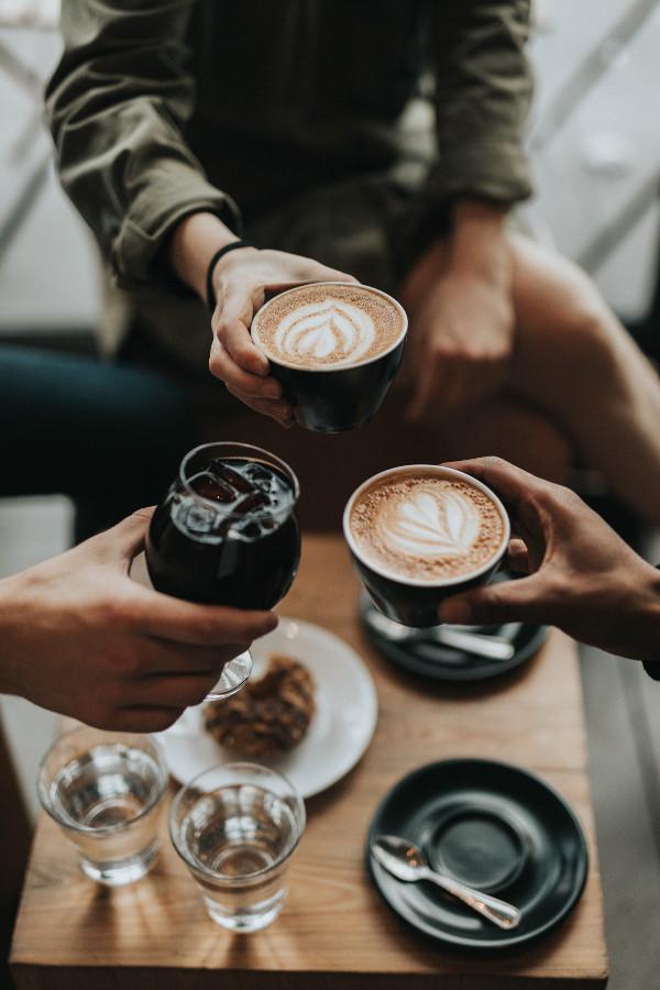 przyjaciele kawa